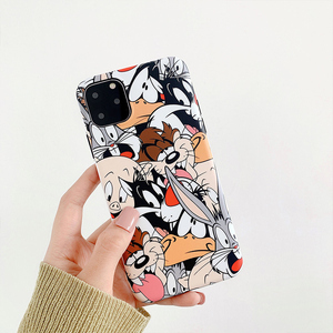 Cartoon Rabbit Wolf dog Phone Case for iphone 11 11Pro Max XS Max XR XS Soft silicone tpu case For iphone 7 8 6 6S Plus shell(China)