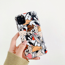 Cartoon Rabbit Wolf dog Phone Case for iphone