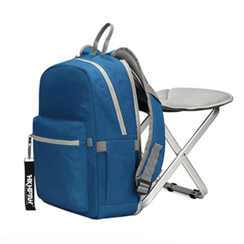 High Quality Backpack Chair Portable Camping Stool Foldable with Double Layer Oxford Fabric Cooler Bag for Fishing