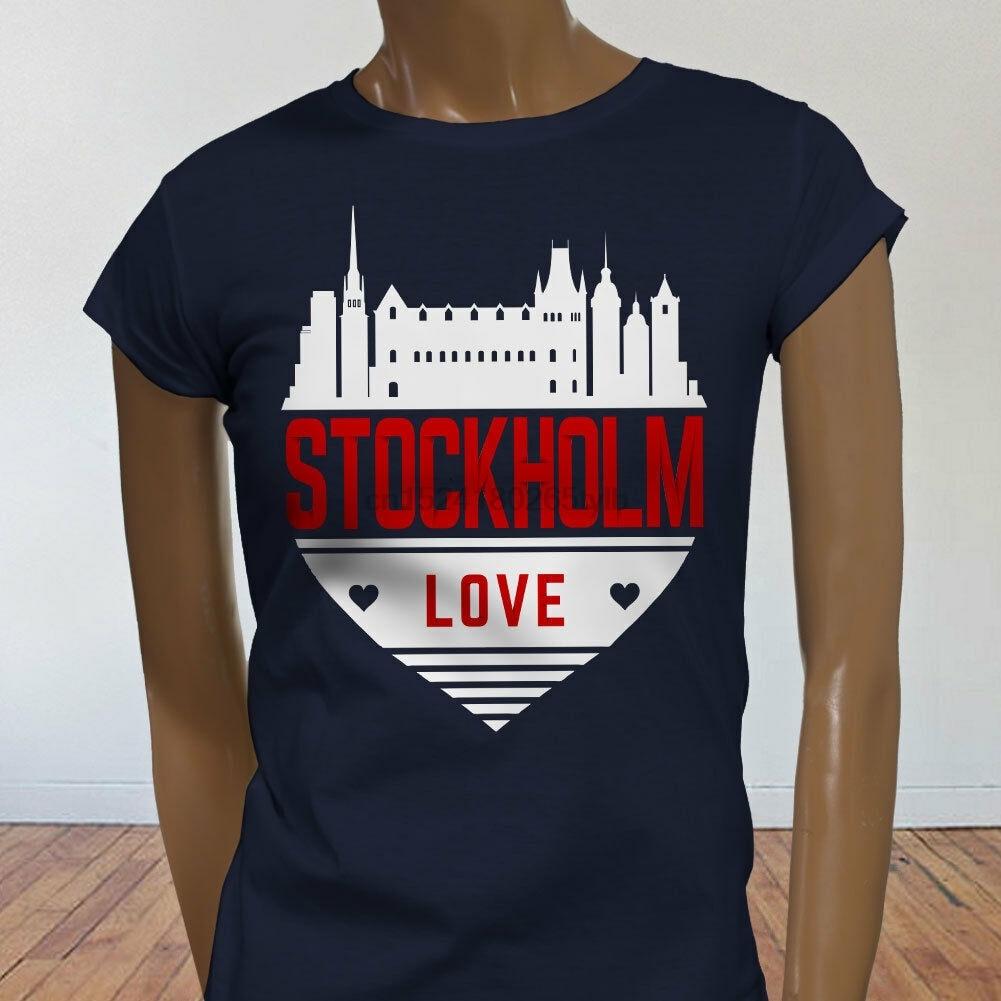 I Love Heart Sweden Ladies T-Shirt