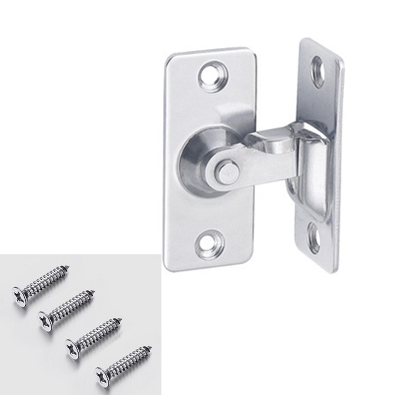 304 Stainless steel 90 degree Right angle buckle/hook lock/bolt,For sliding door,Mini but strong,Surface mounting,Hardware Locks