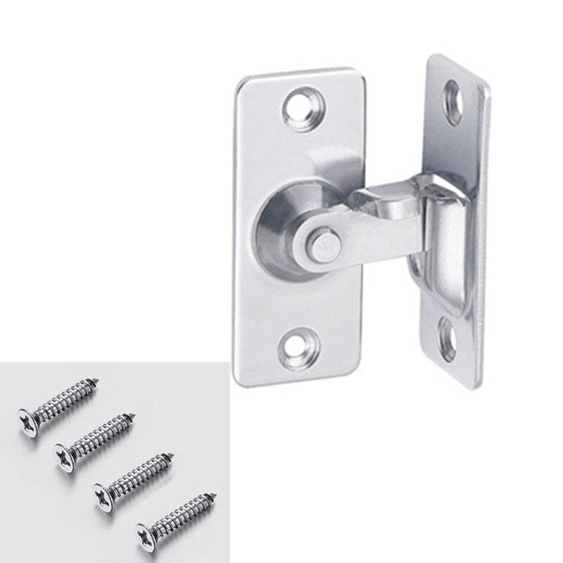 304 aço inoxidável 90 graus ângulo direito fivela/gancho de bloqueio/parafuso, para porta deslizante, mini mas forte, montagem de superfície, fechaduras de ferragem