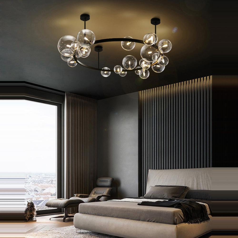 LED Postmodern Round Glass Bubbles Designer Lamparas De Techo Ceiling Lights LED Ceiling Light Ceiling Lamp For Foyer Bedroom