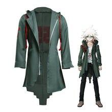 Куртка для косплея Takerlama Nagito Komaeda Аниме Супер данган ронпа 2 костюм данганронпа мужское зеленое пальто Одежда для взрослых
