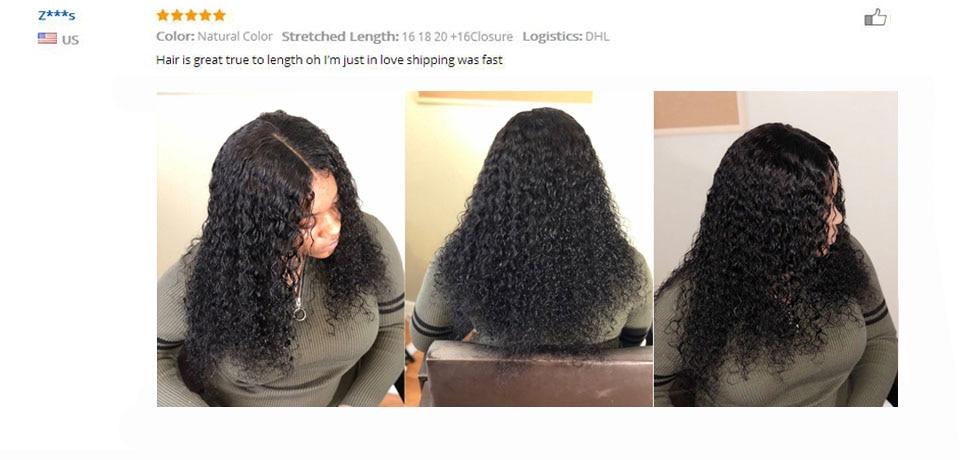 Hac4a5080e59748f9a47fddd8ec32f629I Kiss Love Brazilian Hair Deep Wave Bundles With Closure Human Hair Weave Bundles With Closure 3 Bundles With Lace Closure