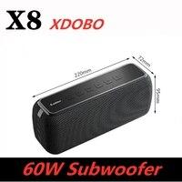 Altavoz Bluetooth de 60W con Subwoofer, columna portátil resistente al agua IPX5 con asistente de voz tipo c, centro de música, 15H de tiempo de reproducción
