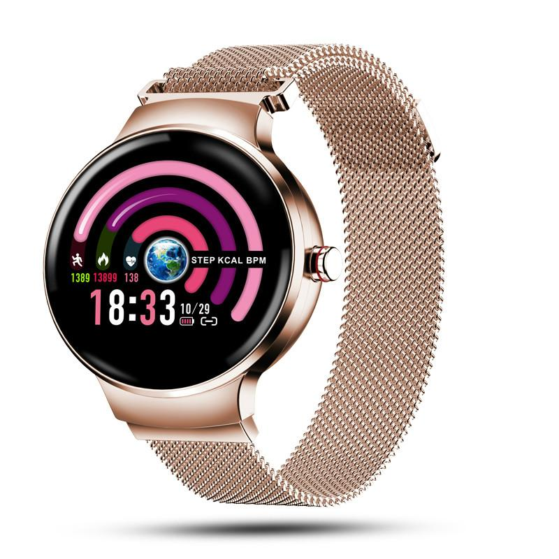 H5 Women Smart Watch Blood Pressure Heart Rate Monitor Fitness tracker IP67 Waterproof Fanshion Sport Smartwatch|Smart Watches|   - AliExpress