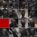 Кожаный чехол на автомобильный переключатель передач для BMW F23, E36, 318is, E46, E90, E93, F30, F31, F34, 98% моделей, чехол на ручку переключения передач