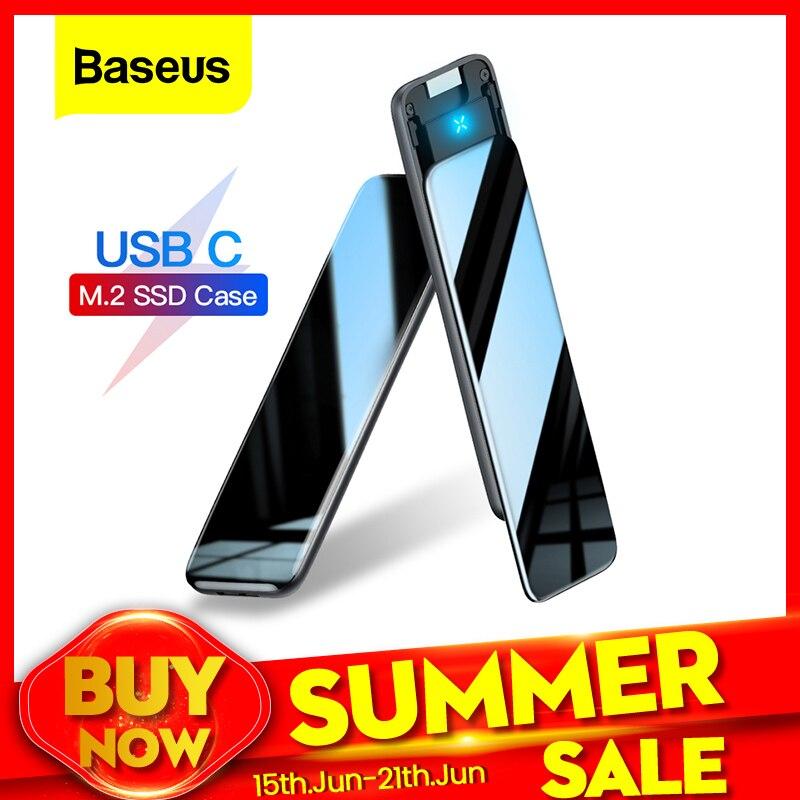 Baseus M2 SSD Case M.2 SATA Solid State Drive Box Adapter Type C Case B/M+B Key 5Gbp SSD Disk External Enclosure Docking Station