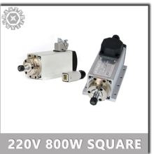 Spindle CNC Machine-Tool Square Air-Cooled 220V Motor Motorwith-Plug/cable Box.
