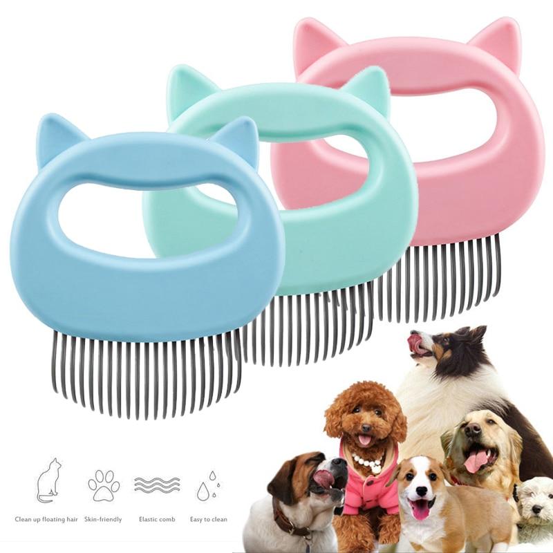 Щетка-гребень для чистки домашних животных, 3 цвета