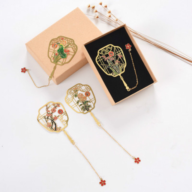 1pcs Creative Metal Seasons Bookmark Baby Souvenirs Wedding Gifts for Guests Bridesmaid Gifts  Back To School Favors Present
