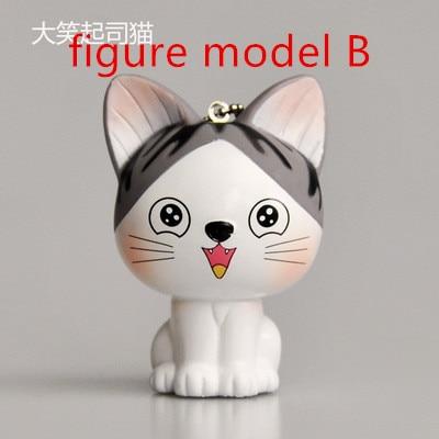 Kawaii серый сидя 9 см кошка плюшевые мягкие игрушки, букет подарок мягкая плюшевая кошка кукла, брелок с котом плюшевая игрушка цветок кошка кукла подарок - Цвет: figure b