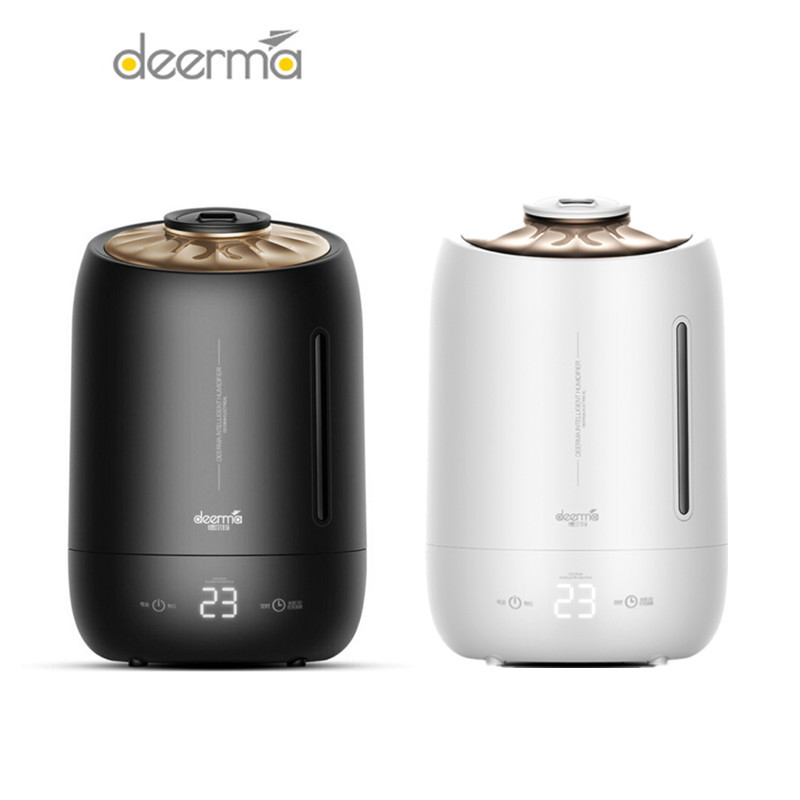 Original Deerma 5L Air Humidifier Aroma Diffuser Household Mist Maker Fogger Purifying Humidifier Oil Timing Household