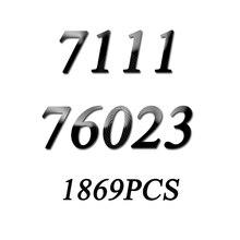 새로운 7111 1969Pcs 배트맨 76023 전차 텀블러 Batmobile Batwing 빌딩 블록 벽돌 교육 완구 선물