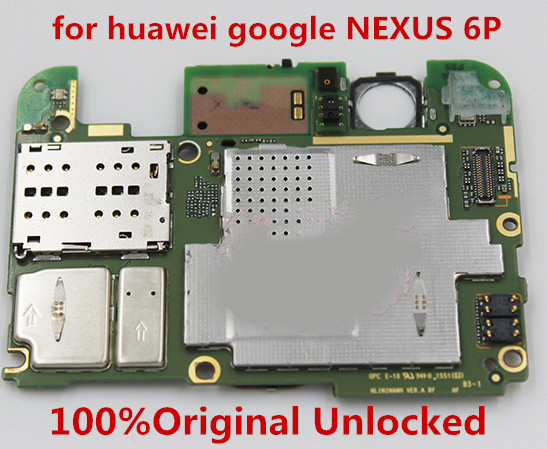 100%Original Unlocked For Huawei Google NEXUS 6P H1511 32GB 64gb 128GB  Motherboard Logic Mother Circuit Board Plat