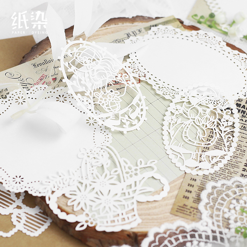 15 Pcs/lot Mountain Snow Series Paper Sticky Notes Memo Pad Diary Stationary Flakes Scrapbook Decorative Lace N Times Sticky