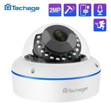 Techage-cámara IP POE de seguridad H.265, 2MP, a prueba de vandalismo, interior, domo, CCTV, micrófono, P2P, videovigilancia, ONVIF, 48V, PoE