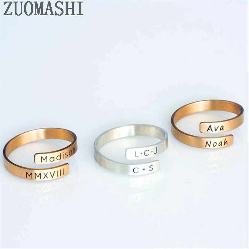 Personalized Ring Minimalist Ring,MCY006 Dainty Ring Valentine Gift Birthstone Ring Initial Ring Perfect Gift For Her Customized Ring