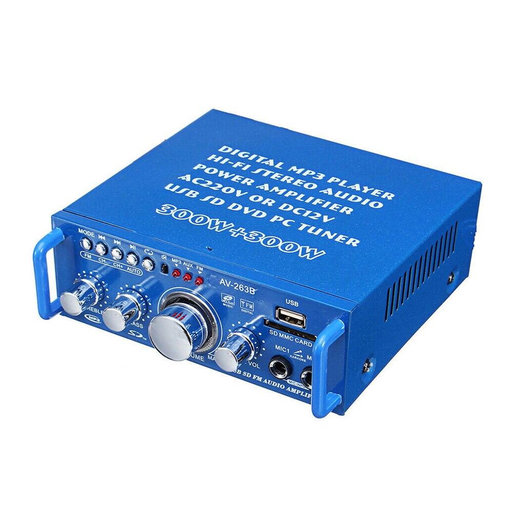 Amplifier Universal Card Insert Audio Dual Channels Car Music News HIFI Stereo FM Radio Bluetooth Sound MP3 Format