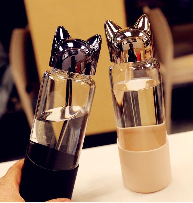 Cartoon Fox Glass Creative Hands Raised Borosilicate Couple Cups Glass Water Bottle|Water Bottles| |  - AliExpress