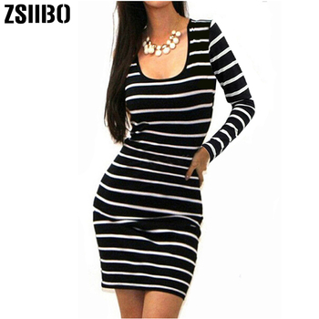 Long Short sleeve summer autumn winter Casual Women Striped Bandage Bodycon Dress Sexy Slim Sleeveless Evening Party Mini Dress