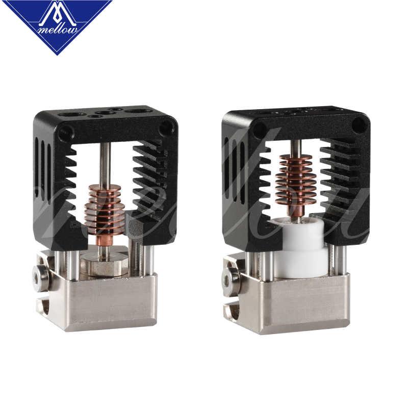 Yumuşak tüm Metal NF çılgın Hotend V6 bakır nozul için Ender 3 CR10 Prusa I3 MK3S Alfawise Bmg ekstruder 3D yazıcı parçaları
