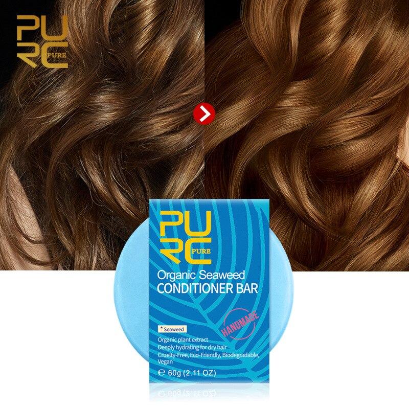 Shampoo-Bar Hair Organic-Plant-Extract Smoothing Handmade Oil-Control Seaweed Buttercup