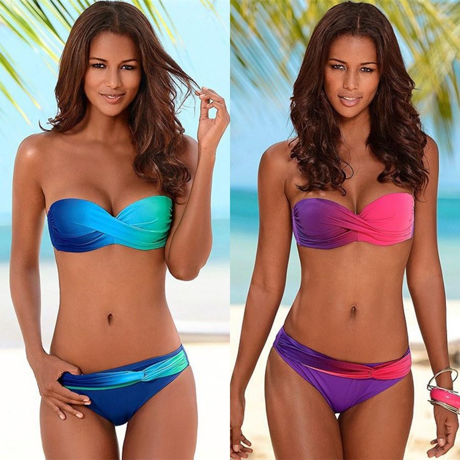 YICN New 2019 Bikinis Women Swimsuit Female Swimwear Retro Sexy Summer Push Up Bikini Set Beach Swim Wear Bathing Suits Biquini