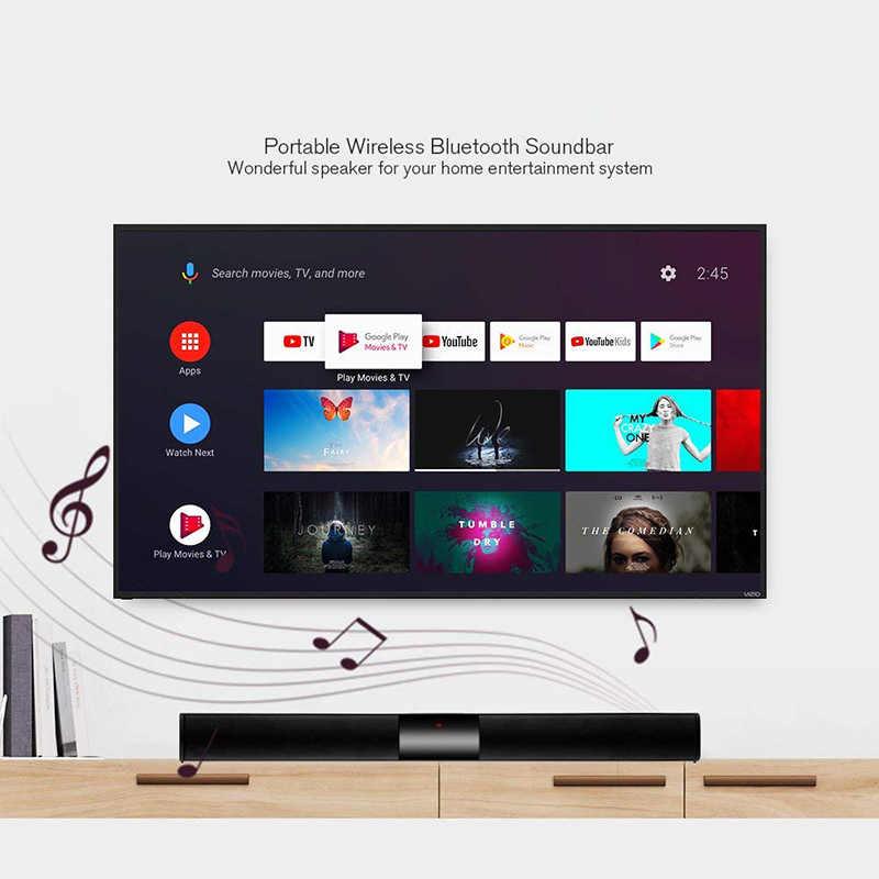 ساوند بار ، سماعة لاسلكية تعمل بالبلوتوث ساوند بار للتلفاز ، مع جهاز تحكم عن بعد ، افضل مكبر الصوت اللاسلكي للصوت + جهاز تحكم عن بعد
