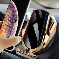 Aperto automático carro carregador sem fio 10 w carga rápida para iphone 11 pro max para huawei p30 qi sensor infravermelho suporte do telefone