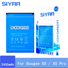 SIYAA Origina Battery For Doogee X5 Batteries High Capacity 2400mAh Voltage 3 7V Replacement Li-ion Battery High Quality cheap MSDS ROHS 2201mAh-2800mAh Compatible For Doogee X5 X5 Pro For Doogee X5 Battery For Doogee X5 Pro Battery For Doogee X5 Original Battery