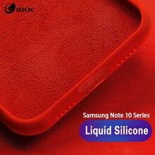 GKK for Samsung note 10 pro plus Case Liquid Silicone Baby-Skin Cover Galaxy S10 Lite Plus S10e Coque