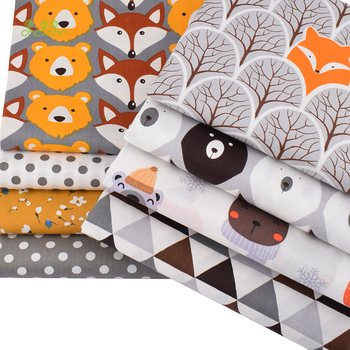Chainho,8pcs/Lot,Jungle Animals Series,Printed Twill Cotton Fabric,Patchwork Cloth,DIY Sewing Quilting Material For Baby&Child 3