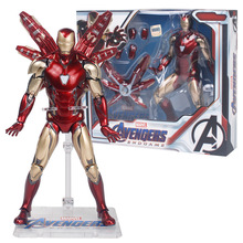 17cm Marvel Legends MK85 Iron man Pepper The Avengers Joints Movable Action Figure Model toys Collection Doll Gift For Children