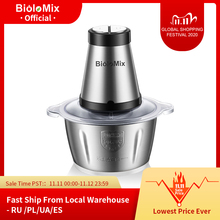 2 Speeds 500W Stainless steel 2L Capacity Electric Chopper Meat Grinder Mincer Food Processor Slicer