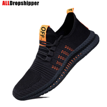 Spring Mesh Men's Sneakers Casual Shoes Lac-up Men Shoes Lightweight Breathable Walking Running Sports Shoes Zapatillas Hombre