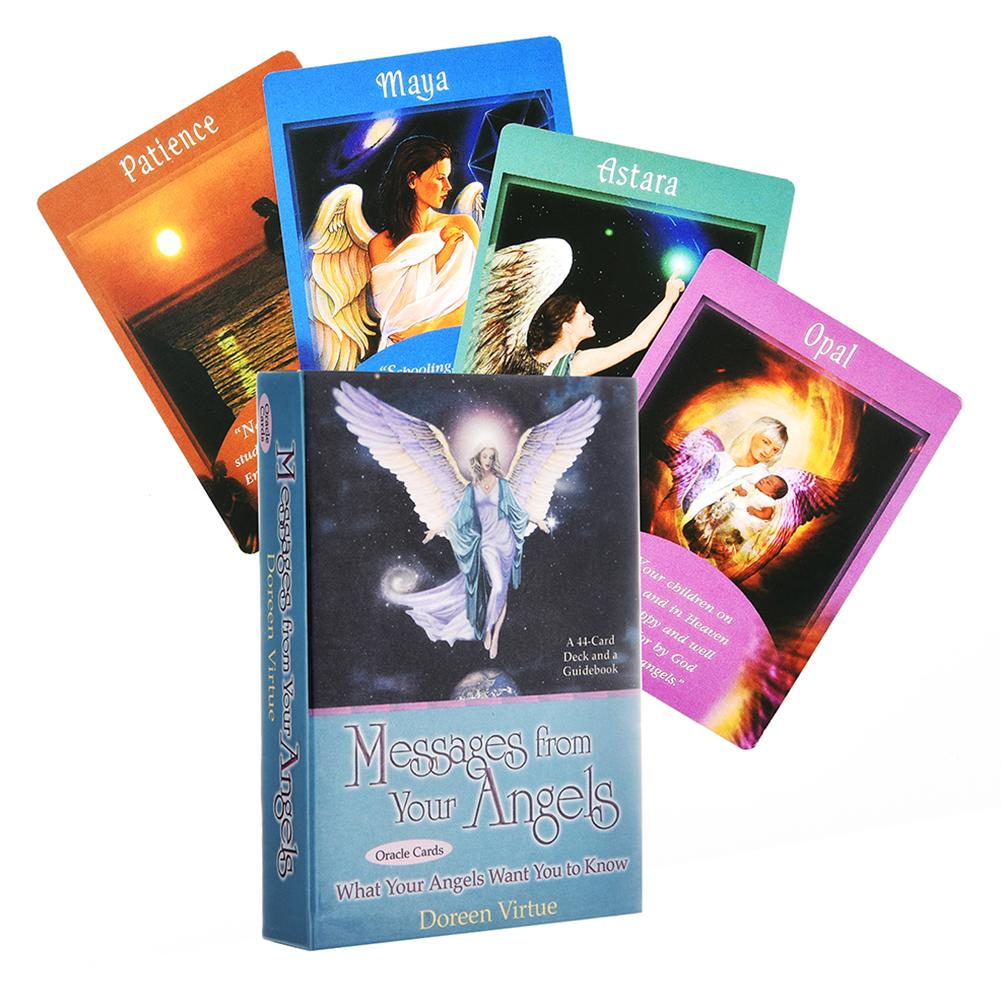 44pcs Messages From Your Angels What Your Angels Tarot Cards Deck Board Games English For Family Gift Party Playing Card Game image