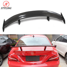 CLA Carbon Fiber Spoiler wing GT Style For Mercedes-benz CLA45 CLA250 W117 Rear trunk roof spoiler 2013 2014 2015 2016 2017 2018 цена