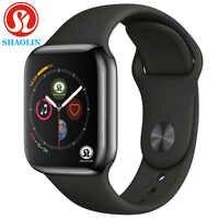 Reloj inteligente de Gel de sílice con cargador inalámbrico 42MM Series 4 aleación Bluetooth deporte moda reloj para iOS Android Apple reloj teléfono