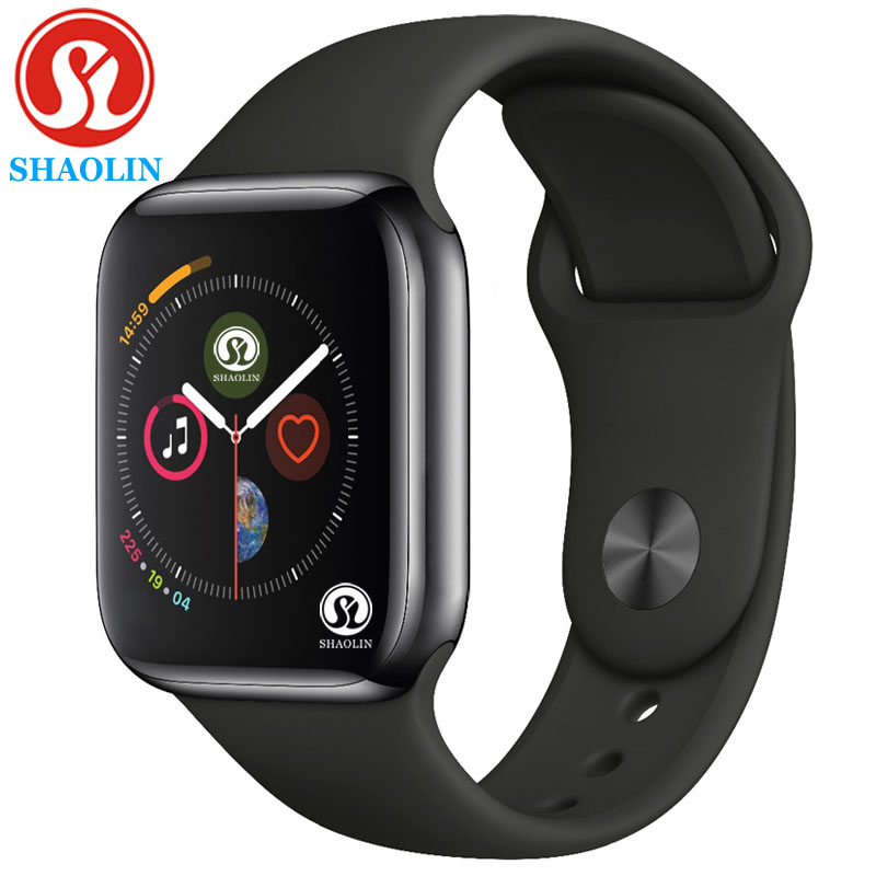Silica Gel Smart Watch With Wireless Charger 42MM Series 4 Alloy Bluetooth Sport Fashion Watch for iOS Android Apple Watch Phone in Smart Watches from Consumer Electronics