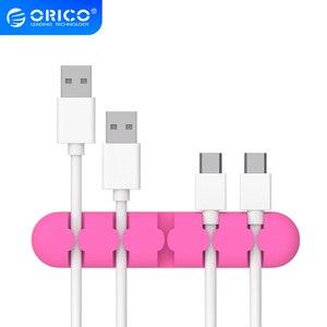 Image 1 - ORICO silicone CBS câble enrouleur bureau MP3 MP4 écouteur ligne de données USB chargeur pince à support de câbles gestion stockage organisateur
