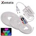 220V RGB неоновые полосы светильник в виде ленты гибкий светодиодный неоновая вывеска для организаций и магазинов ночника 2835 5050 120 светодиодны...