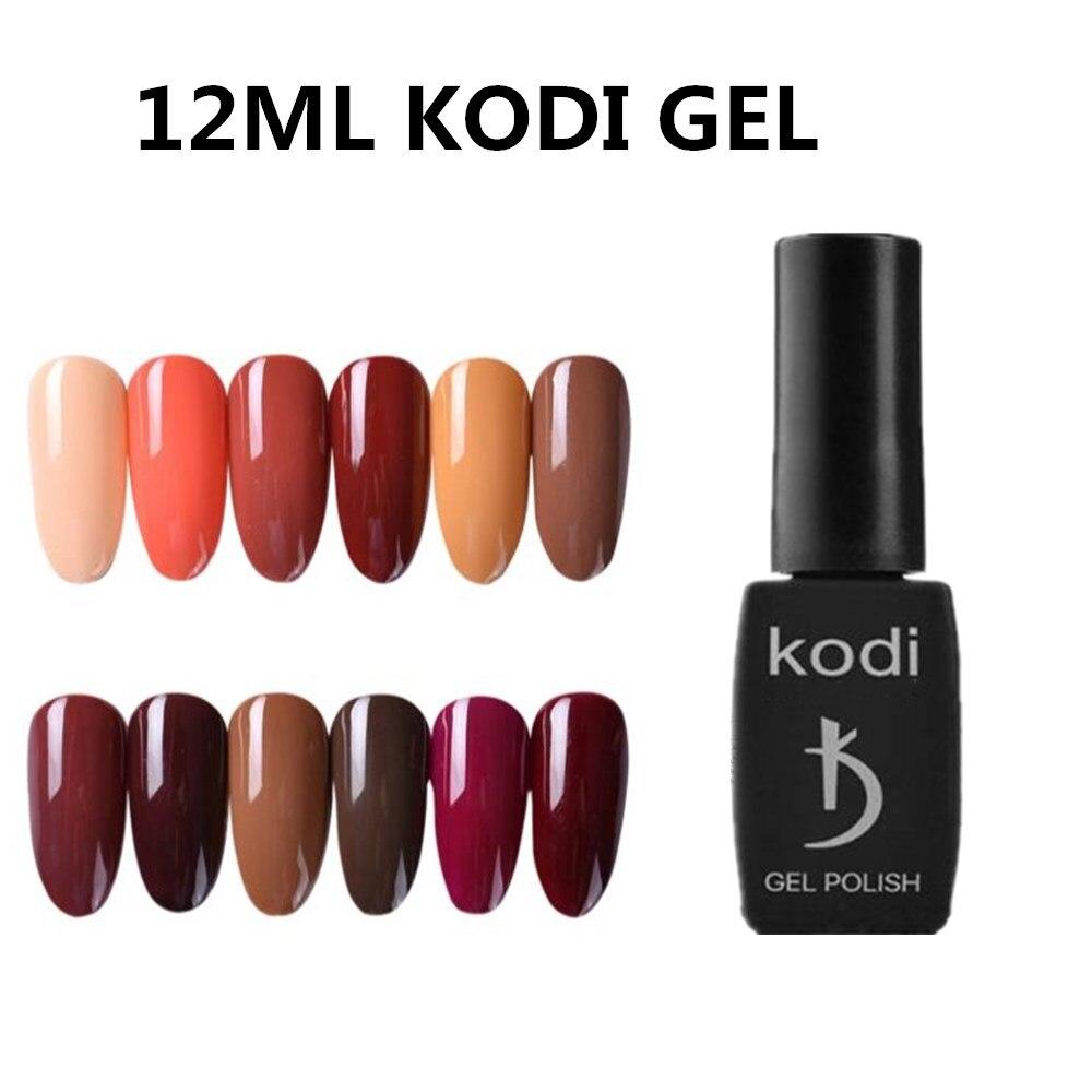 Kodi Гель-лак для ногтей гибридные лаки для маникюра дизайн ногтей 12 мл Полупостоянный УФ-светодиодный Гель-лак для ногтей базовый топ-лак