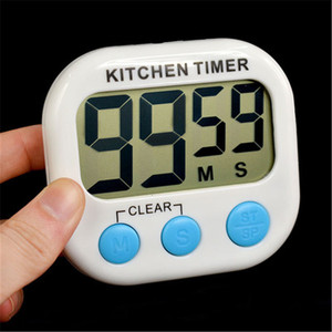 Image 2 - Magnetic LCD Digital Kitchen Countdown Timer Alarm with Stand White Kitchen Timer Practical Cooking Timer Alarm Clock