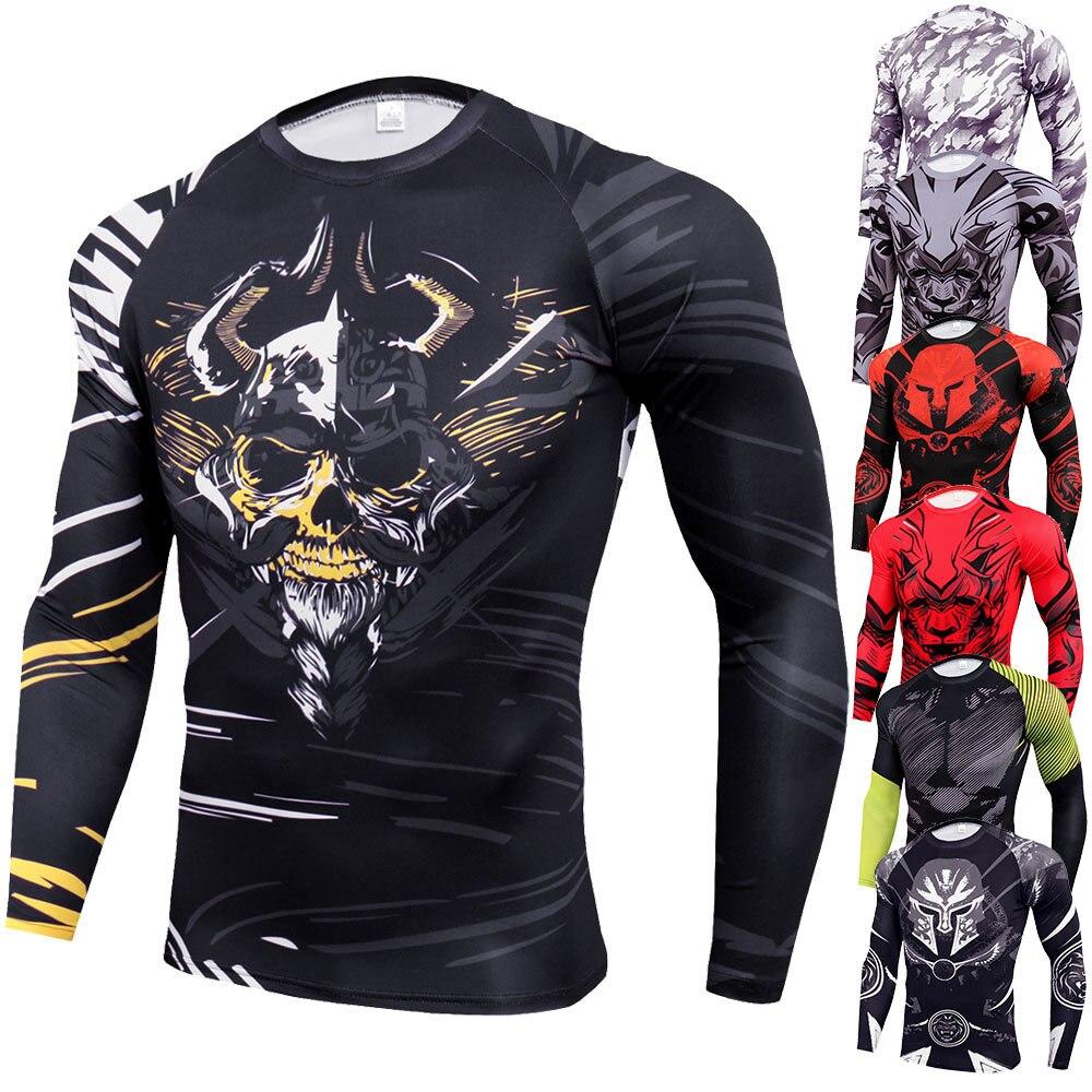 Dutiful Bjj Rashguard Men Mma T-shirt Rash Guard Jiu Jitsu T-shirts Mma Clothing Tiger Muay Thai Kickboxing Tee Gym Venum Boxing Shirt Sale Overall Discount 50-70%