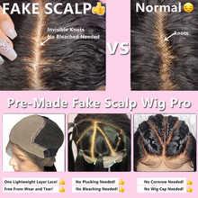 Elva Hair Fake Scalp Wigs 13x6 Lace Front Human Hair Wigs For Black Women Straight Preplucke Bleached Knots Brazilian Remy Wigs
