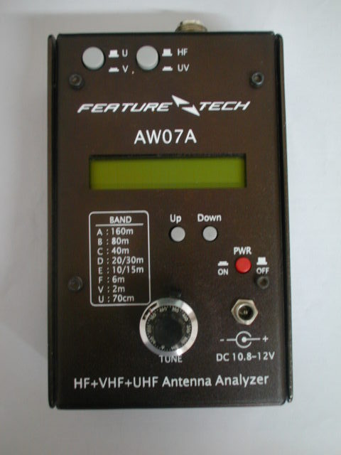 English Verison HF +UV AW07A HF/VHF/UHF 160M 490Mhz Impedance SWR Antenna Analyzer Shortwave Ham Radio + English Manual
