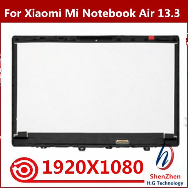13.3 inch For Xiaomi Mi Notebook Air LCD LED Screen Display Panel Matrix Glass Assembly + Bezel LQ133M1JW15 LTN133HL09 1920x1080