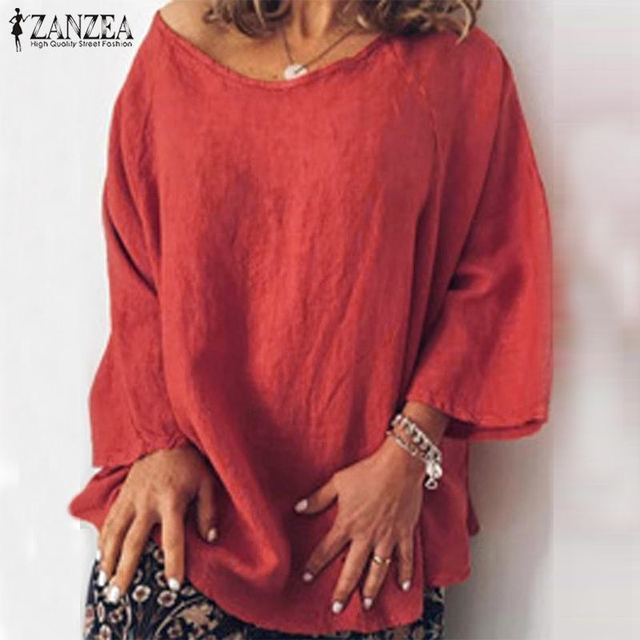 Long Sleeve Solid Blouse 1